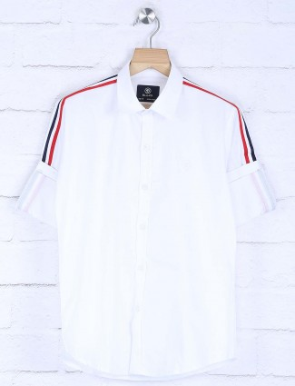 Blazo simple casual wear white shirt