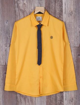 Blazo solid yellow shirt