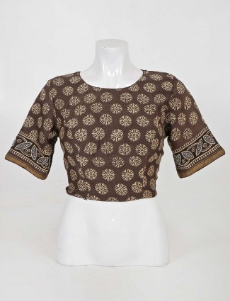Block print readymade designer blouse in cotton