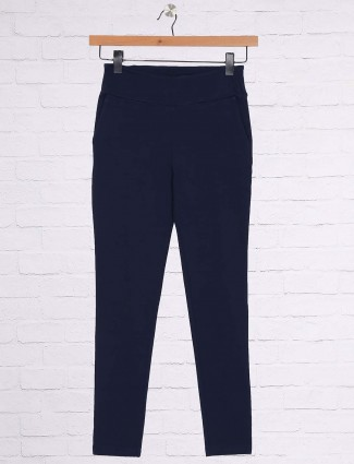 Blue color casual jeggings
