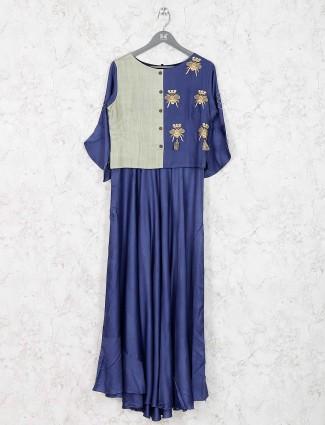 Blue color festive wear kurti