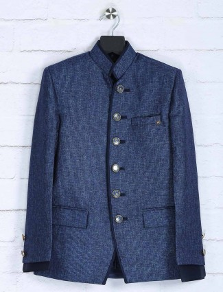 Blue color party wear boys jodhpuri suit