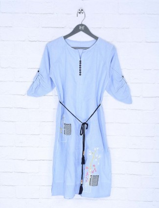 Blue color top in cotton