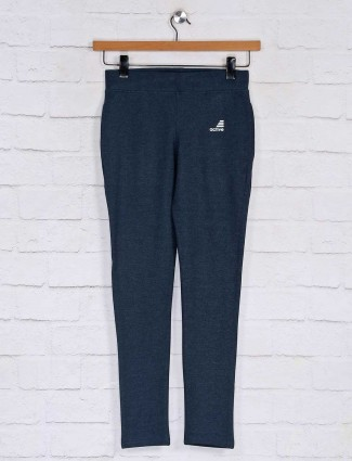 Blue cotton casual track pant