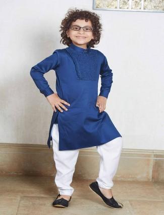 Blue festive wear kurta suit for boys