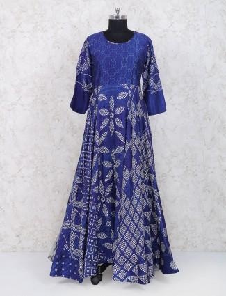 Blue hue cotton festive kurti