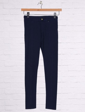 Blue hue cotton jeggings