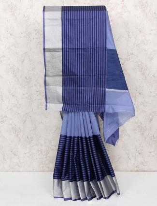 Blue hue cotton silk lovely saree