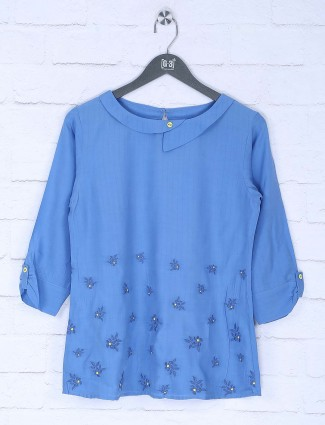 Blue hue lovely cotton top