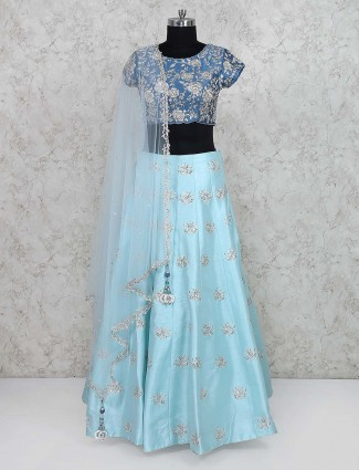 Blue hue lovely wedding lehenga choli
