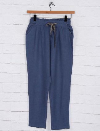 Blue hue women pyjama in cotton