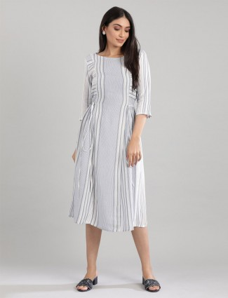 Blue stripe style cotton kurti design
