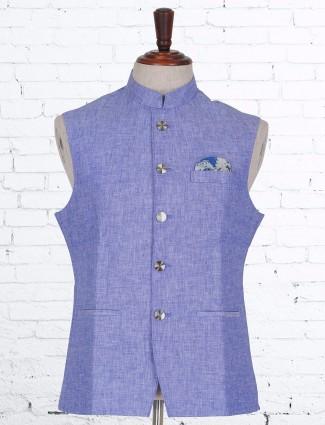 Blue terry rayon party war waistcoat