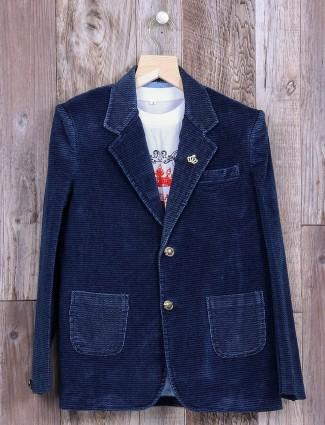 Blue velvet alluring party wear blazer