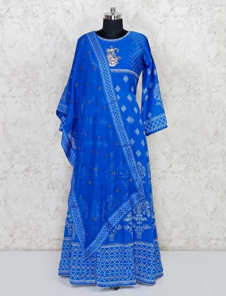 Bnadhej anakali suit in cotton
