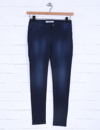 Boom dark navy plain womens jeans