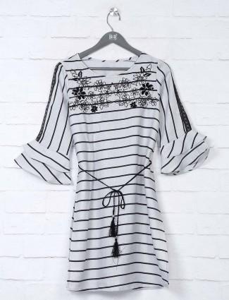 Boom grey stripe cotton top