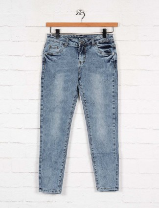 Boom light blue denim jeans for casual wear