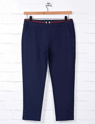 Boom navy blue jeggings in cotton