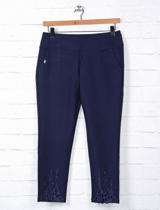 Boom navy cotton casual jeggings