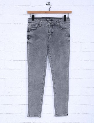 Boom presented solid dark grey jeans