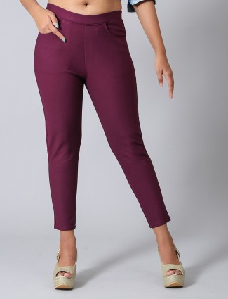 Boom purple jeggings in cotton