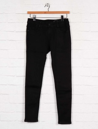 Boom solid black denim women jeans