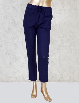 Boom solid linen navy payjama