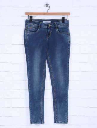 Boom solid royal blue hue jeans