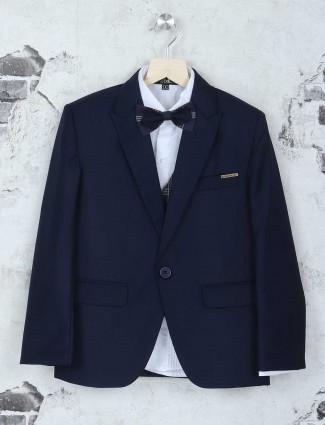 Boy Navy terry rayon coat suit