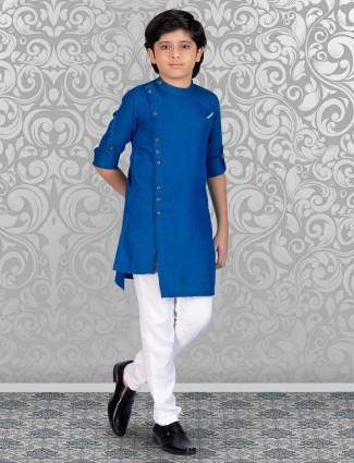 Boys royal blue kurta suit combination