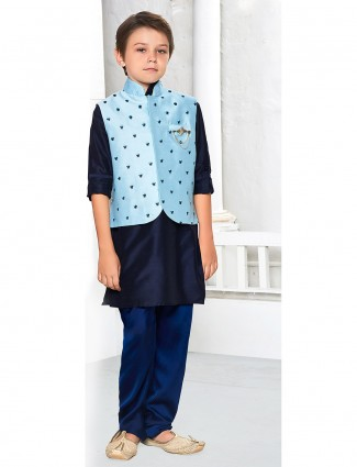 Boys waistcoat set in navy color