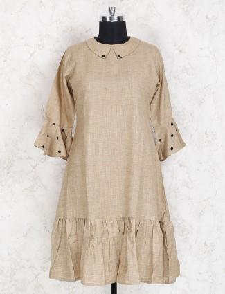 Brige color casual wear solid kurti