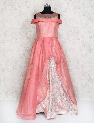 Bright pink gown