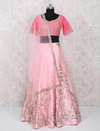 Bright pink lehenga choli for wedding
