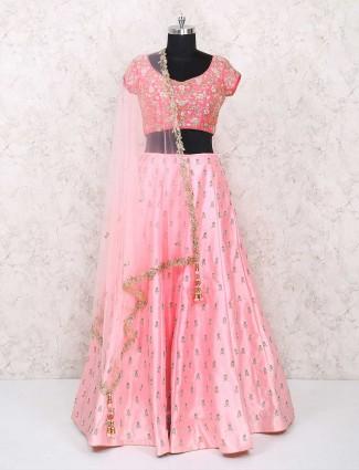 Bright pink wedding lehenga choli