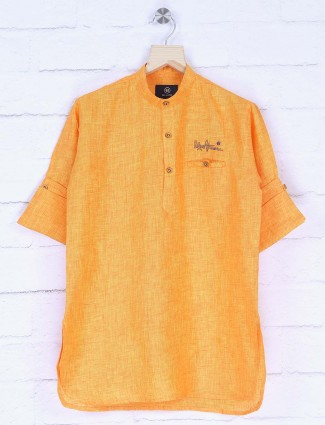 Bright yellow hue short pathani