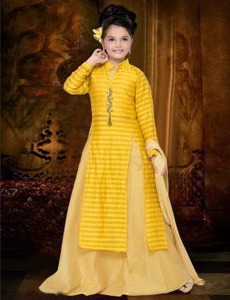 Bright yellow silk lehenga choli