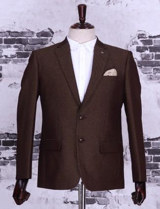 Brown color blazer
