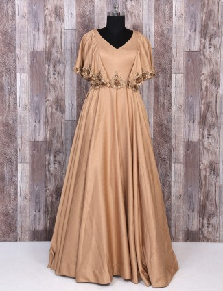 Brown color designer gown
