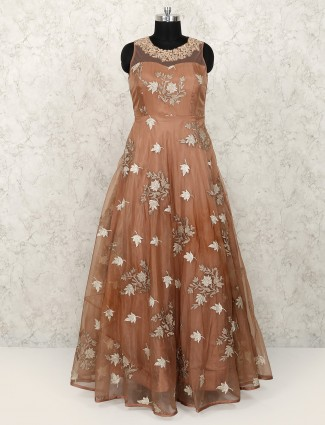 Brown color Exclusive gown for women