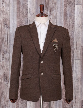 Brown color mans blazer