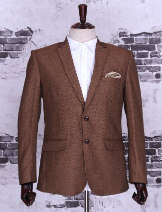 Brown color mans party blazer