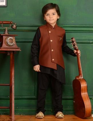 Brown hue festive waistcoat set