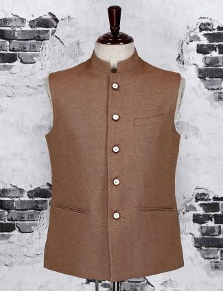 Brown mans waistcoat