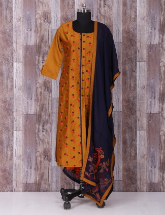 Brown silk wonderful punjabi suit