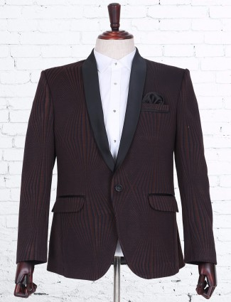 Brown terry rayon blazer