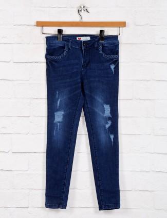 Casual blue denim jeans