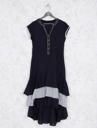 Casual wear black color cotton kurti
