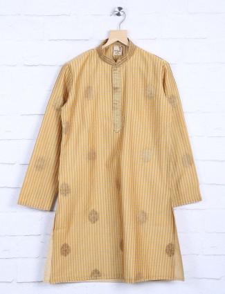 Checks yellow festive wear kurta suit